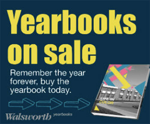Yearbooks on sale. Remember the year forever, buy the yearbook today.