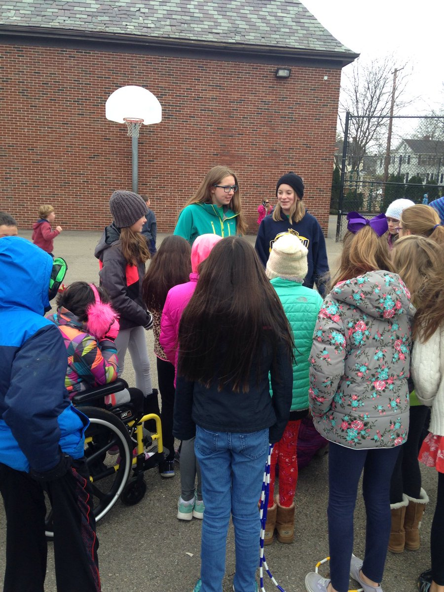 BOLD members talk to kids at recess at Smith