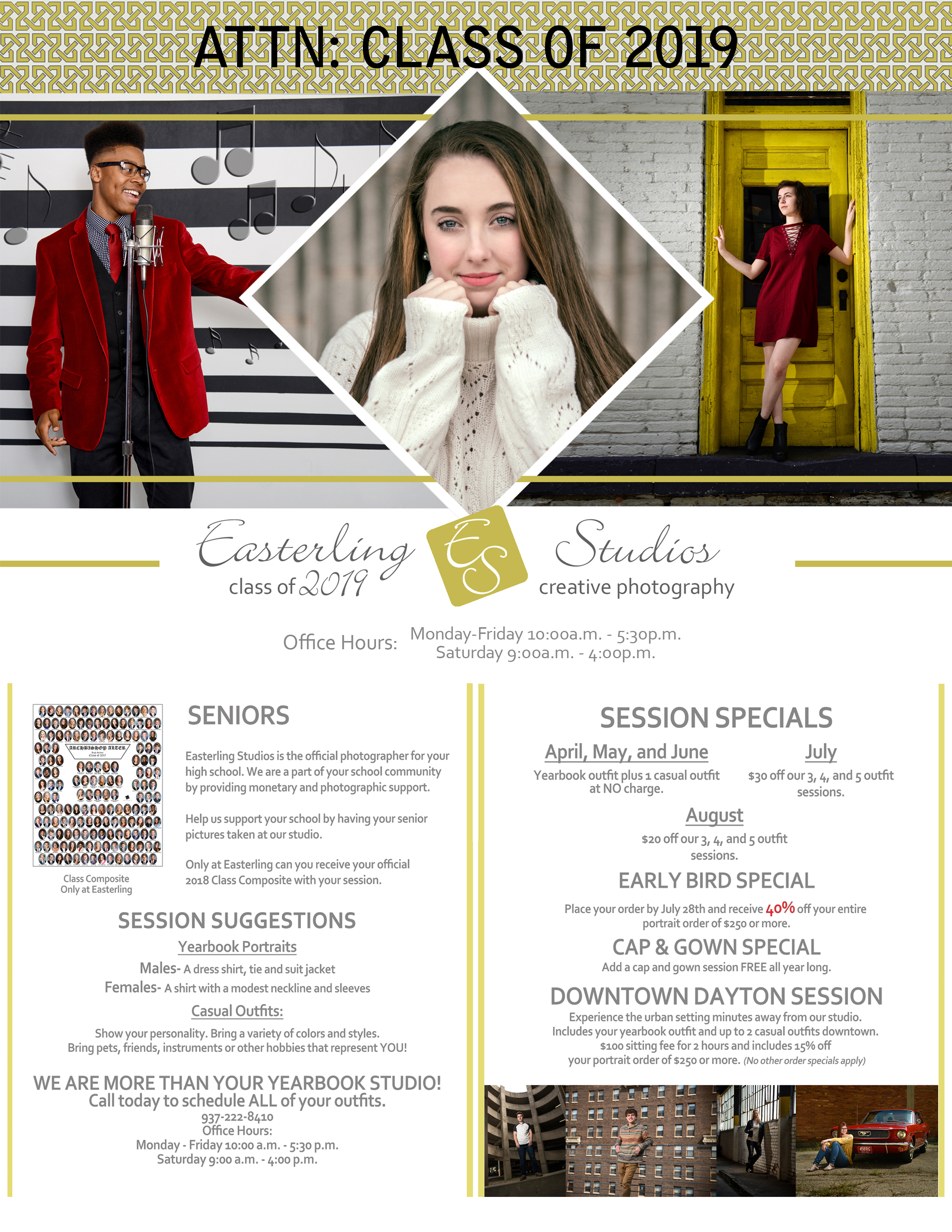 2019 Senior Brochure information